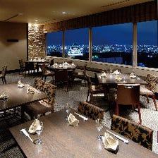 夜景を眺めながらのディナー