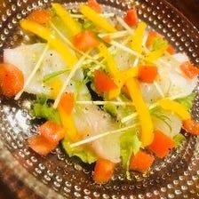 彩り鮮やかな海鮮料理♪♪