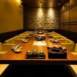 【シーンに合わせた個室】 様々な用途に最適な個室を各種完備