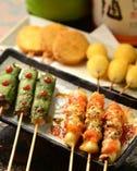 ●「炭火串焼」と「串揚げ」が 美味しい♪