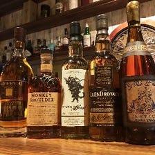 世界と日本のウィスキーを揃える。