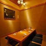 【掘りごたつ個室】少人数の接待や会食、京都観光の際のお食事にどうぞ。4~6名様まで