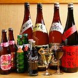【飲み放題ドリンク】 ビール、ハイボール、ワイン、日本酒…など、種類豊富に揃えております