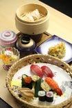竹定食(上寿司付) 1,900円(平日ランチ価格)
