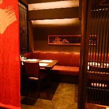 京の雰囲気抜群の個室が多数あり