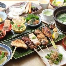 【2時間飲み放題】鶏会席日本橋コース<贅沢全10品> 6,500円 宴会・歓送迎会