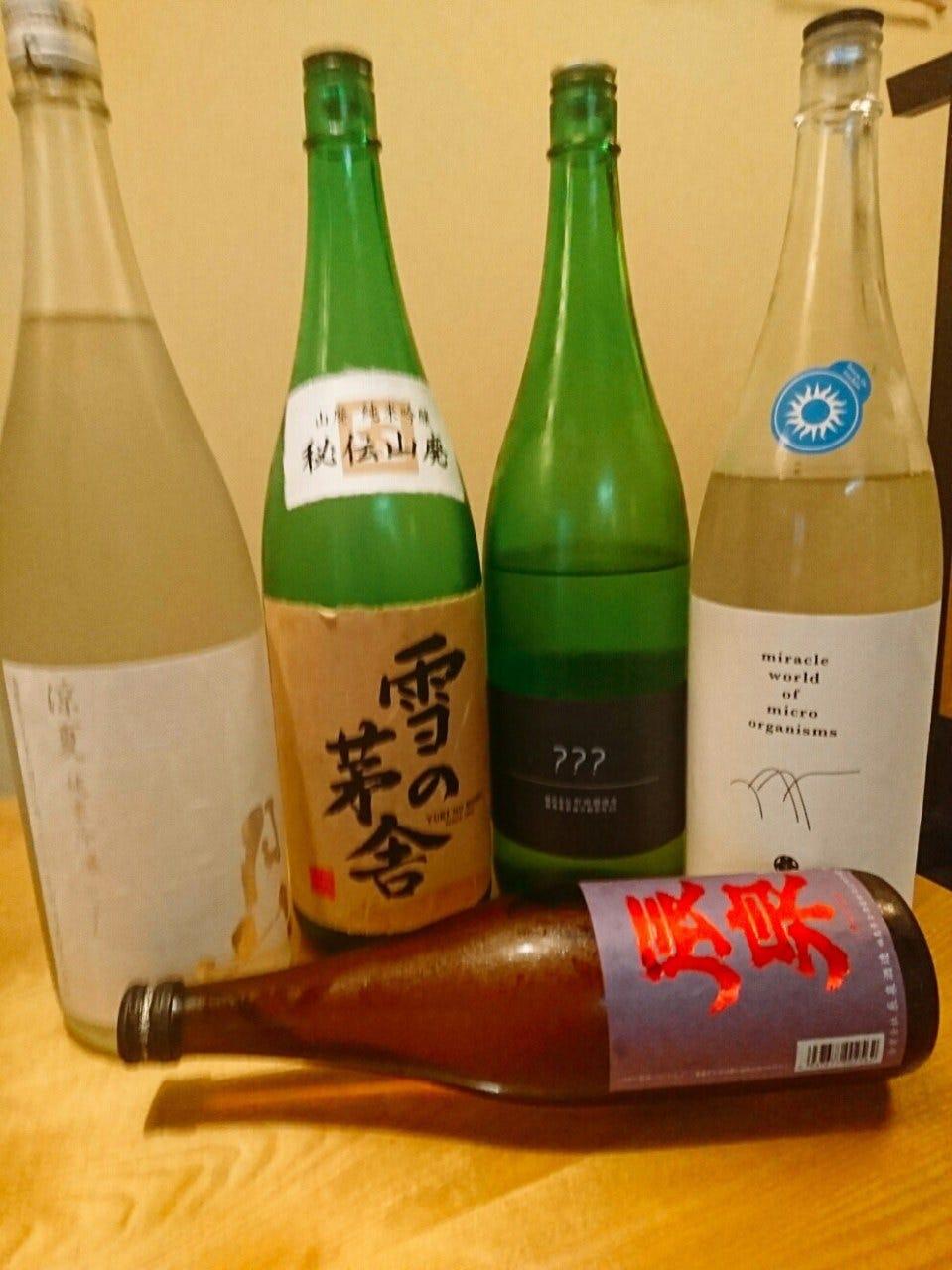 日本酒好きの店主拘りの品揃え