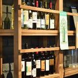 イタリアやフランスなどを中心に厳選したワインを取り揃えてます