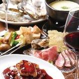 和牛肉・海鮮等が満喫できるお得な飲み放題付コースは6,800円~