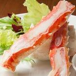 本タラバ蟹の鉄板焼き