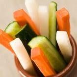 あっさり野菜スティックのしょんしょん味噌添え
