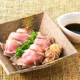 九州産 鶏ももの炙りタタキ