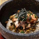 石焼きチャーシュー明太 高菜炒飯
