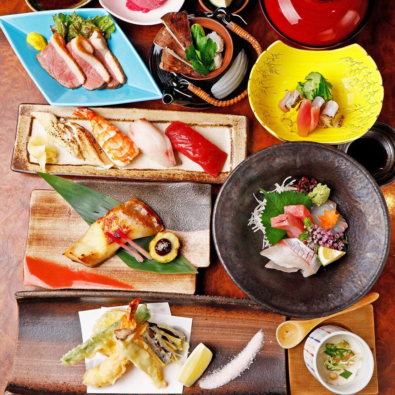 旬味盛りだくさん!造り、焼、揚etc.〆は自慢の寿司をどうぞ!