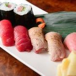鮪づくし寿司盛合せ