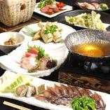 新鮮な魚介類を満喫できるのがコース料理の醍醐味です。