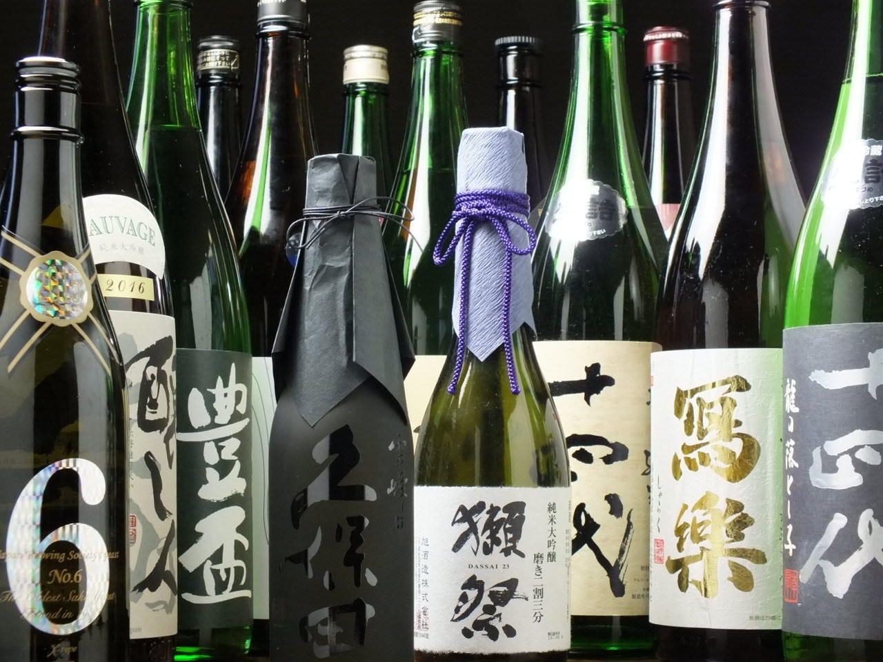 日本酒に力を入れております!!