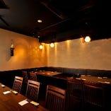 10名~最大28名様まで入れるテーブル個室で貸切宴会ができる!