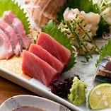 築地から仕入れてる新鮮なお魚を堪能できます!