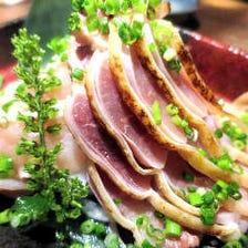 兵庫県産百日鶏の昆布〆のお刺身