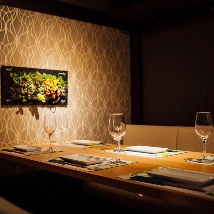 宴会・接待・記念日は、贅沢に個室で