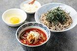裏メニュー ラー油蕎麦(普通盛・大盛)