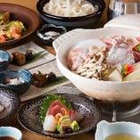 旬の鮮魚と野菜たっぷりの鍋で宴会!寄せ鍋コース