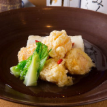 海老団子と揚げ出し豆腐