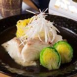 真鯛と白菜の生姜あん仕立て