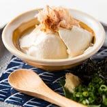 自家製ざる豆腐