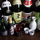 今月の特選酒【日本酒各種 一合 800円~】