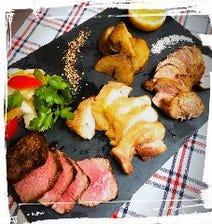 3種の肉のロースト盛り