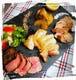 上質なお肉を使った3種類のロースト盛り1400円