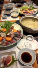 対馬の天然魚鍋(2h飲み放題付)手作りマルゲリータ付で5280円を280円現金還元で5000円税込幹事様安心。
