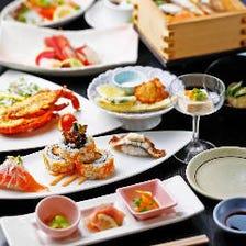 5,130円(税込)コース<11品> メインはロブスターチーズ焼き!創作和食とお寿司の人気コース