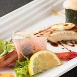 研究を重ねた創作寿司は見た目も味も絶品です
