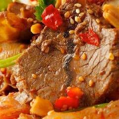 牛肉とハチノスの四川風冷菜