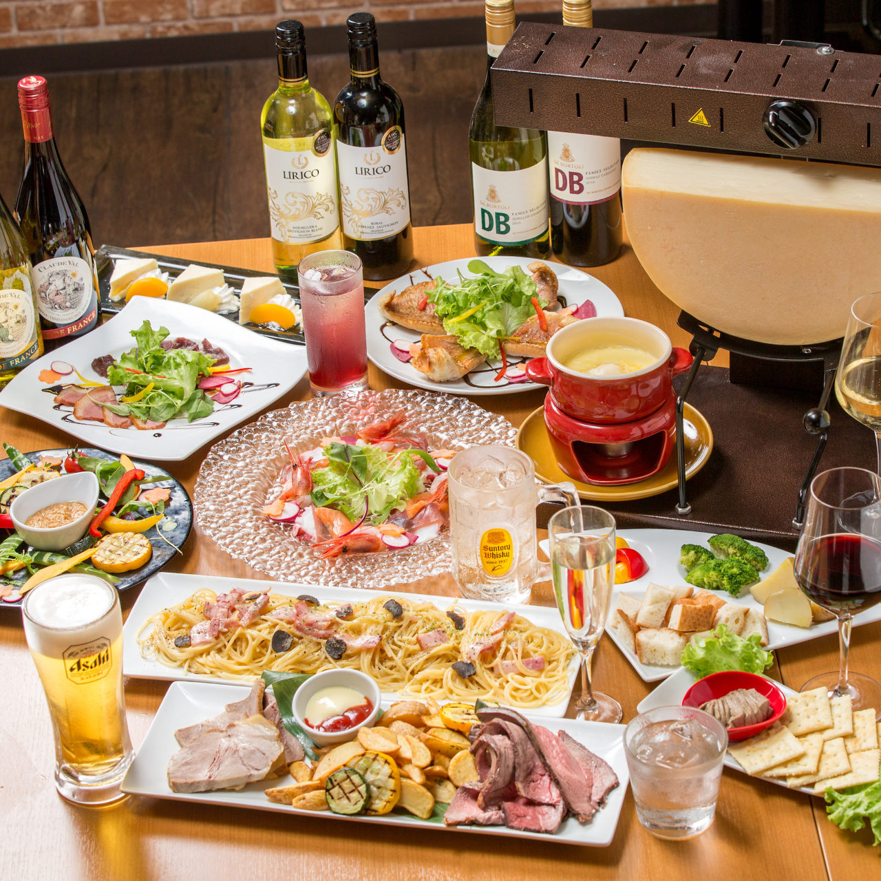人気のラクレットチーズ宴会 「ラクレット」3980円・3時間