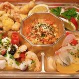 M'sの《魚と野菜》アンティパスト5種盛り合わせ