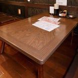 テーブル席は2〜4名様でご利用可能