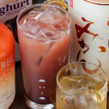 女性のお客様に人気の果実酒を豊富に揃えています