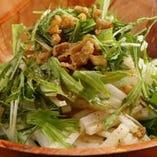 パリパリ水菜サラダ