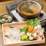 ぞんぶん名物 鯛しゃぶ【丁寧に仕込んだ鯛出汁でお召し上がり下さい】