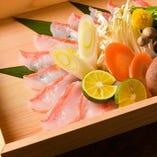 【豊洲市場直送】自慢の金目鯛の鯛しゃぶしゃぶ【豊洲市場直送】