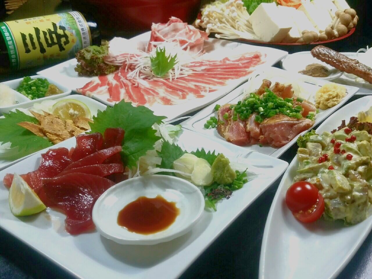 【各種宴会に♪】高級食材!贅沢5000円ポッキリコース(税込)(2H飲み放題付き、ぶえん鰹メイン)