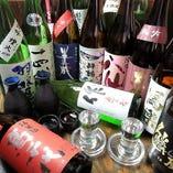 常備10種類以上の厳選した日本酒をご用意!