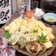 天ぷら魚頂点盛り