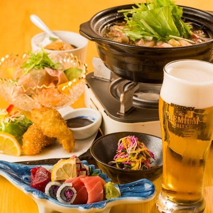 飲み放題と逸品を楽しむコースは4,000円~平日は貸切も可能です