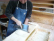 地域的には珍しい細打ち辛つゆ蕎麦。独学で打つ毎日が修行。