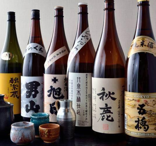 常時30種の日本酒でお好みのお酒を♪
